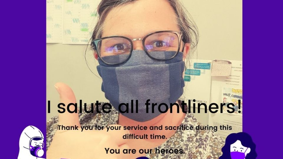 I salute all frontliners!